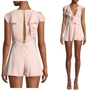 Fame and Partner | Pink Piero Ruffled Romper